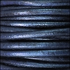 5mm round Euro leather METALLIC GALAXY - per 10 feet