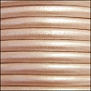 5mm round Euro leather METALLIC NUDE - per 10 feet