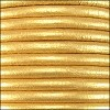 5mm round Euro leather METALLIC GOLD - per 10 feet