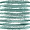 5mm round Euro leather METALLIC SEAFOAM - per 10 feet