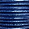 5mm round Euro leather METALLIC COBALT - per 10 feet