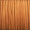 3mm round SUEDE Euro leather APRICOT - meter