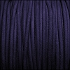 3mm round SUEDE Euro leather PURPLE - per 25m SPOOL