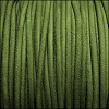 3mm round SUEDE Euro leather GREEN - meter
