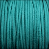 3mm round SUEDE Euro leather TURQUOISE - meter