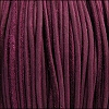 3mm round SUEDE Euro leather VIOLET - meter