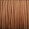 3mm round SUEDE Euro leather TAUPE - meter