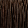 3mm round SUEDE Euro leather DARK BROWN - meter