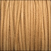 3mm round SUEDE Euro leather NATURAL - meter