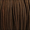 3mm round SUEDE Euro leather BROWN - per 10 feet