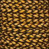 6mm round ITALIAN BRAIDED leather MUSTARD - 1 meter