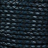 6mm round ITALIAN BRAIDED leather NAVY - 1 meter