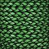 6mm round ITALIAN BRAIDED leather GREEN - 1 meter