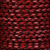 6mm round ITALIAN BRAIDED leather RED - 1 meter