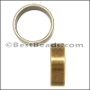 10mm round THIN SLICE spacer ANT BRASS - per 10 pieces