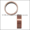 10mm round THIN SLICE spacer ANT COPPER - per 10 pieces
