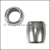 8mm round CYLINDER bead ANT SILVER - per 10 pieces