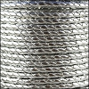 5mm round BRAIDED Euro leather METALLIC SILVER- per 10 feet