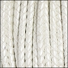 5mm round BRAIDED Euro leather METALLIC WHITE - per 10 feet