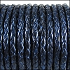 5mm round BRAIDED Euro leather METALLIC GALAXY - per 10 feet