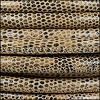 8mm round LIZARD PRINT STITCHED leather TAUPE - 1 meter
