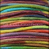 3mm round SUEDE Euro leather RAINBOW - 25m SPOOL