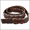 Australian Crocodile leather strip - per 1 meter