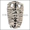 Full Stingray Hide BLACK and CREAM TIGER PRINT
