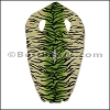Full Stingray Hide LIME GREEN and CREAM TIGER PRINT