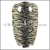 Full Stingray Hide GREY and CREAM TIGER PRINT