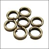 SPLIT ring 5mm per ounce ANTIQUE BRASS
