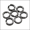 SPLIT ring 5mm per ounce GUNMETAL