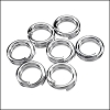 SPLIT ring 7mm per ounce RHODIUM