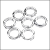 SPLIT ring 7mm per ounce SILVER PLATE