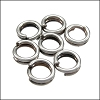 SPLIT ring 7mm per ounce ANTIQUE SILVER