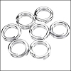 SPLIT ring 6mm per ounce SILVER PLATE