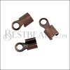 5mm Round Smooth End Clamp ANT COPPER - 72 pcs
