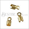 5mm Round Smooth End Clamp SHINY GOLD - 72 pcs