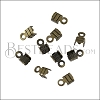 3mm Striped End Clamp ANT BRASS - 72 pcs