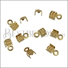 3mm Striped End Clamp SHINY GOLD - 72 pcs