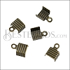5mm Striped End Clamp ANT BRASS - 72 pcs