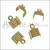 5mm Striped End Clamp SHINY GOLD - 72 pcs