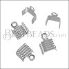 5mm Striped End Clamp SILVER PLATE - 72 pcs