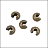 Crimp Covers ANT. BRASS - per 144 pieces