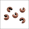 Crimp Covers ANT COPPER - per 144 pieces