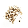 Crimp Tubes GOLD PLATE - per 2 grams