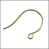 Simple Hook Earwire 24k Gold Plated - per 5 pairs (10 pcs)