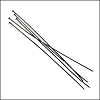 Head Pin 2 inch 24 gauge GUNMETAL - per 144 pieces