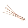 Head Pin 2 inch 20 gauge ROSE GOLD - per ounce