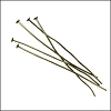 Head Pin 2 inch 20 gauge ANT.BRASS - per ounce